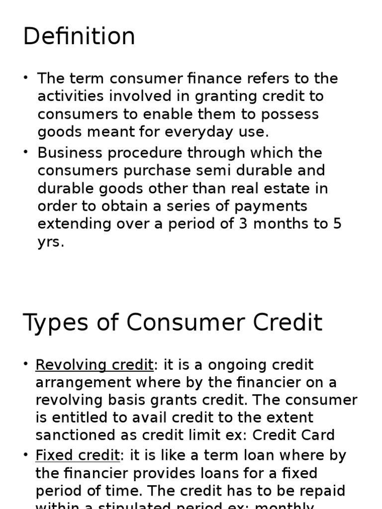 chapter 3-consumer credit & credit cards | credit (finance) | credit