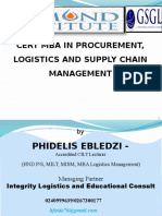 Lecture 1 and 2 Slide - CMBA Logistics - Procurement & SM