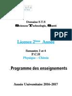 Livret  2 ème année Physique-Chimie S3 et S4