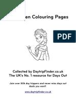 Frozen Colouring Pages Daytripfinder