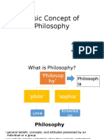 Basic Concept of Philosophy
