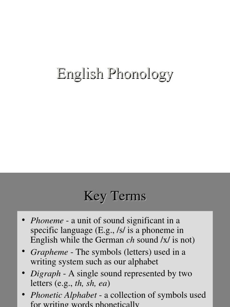 Phonetics 1 Phoneme Consonant