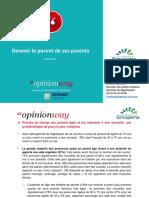 Etude OpinionWay Pour Groupama - Devenir Le Parent de Ses Parents