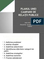 Planul Unei Campanii de Relații Publice