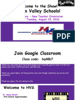 new teacher orientation day 1