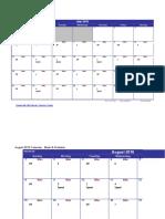 Running Schedule 2010