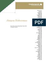 Jürgen Habermas 2001 Acceptance Speech Juergen Habermas