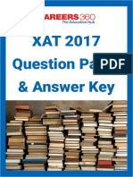 XAT 2017 Question Paper and Answer Key