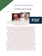 Lisardo San Bruno de La Cruz - Realismo Científico de R. Boyd