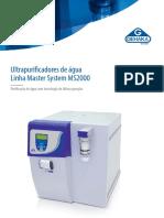 Ultrapurificadores de Água Linha Master System MS 2000