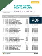 Listado de Docente Jubilado - Enero 2017 - Notilogía