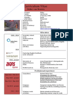 cv engels pdf