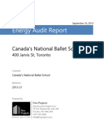 Energy Audit Report National Ballet School