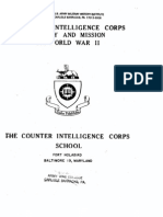 WWII Counter Intelligence Corps