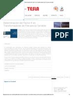Determinación Del Factor K en Transformadores de Frecuencia Variable1