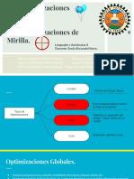 Optimizaciones Globales y de Mirilla