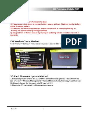 updating g1 firmware
