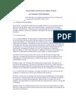 Especificaciones Técnicas de Obras Civiles