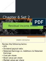 Chapter 6 Set 2 Residual Income Model