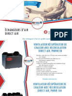 Acheter un échangeur d'air Direct Air