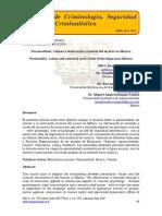 Personalidad, valores y motivación criminal del sicario en México