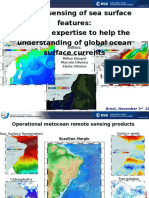 Remote sensing of sea surface features
