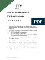 2015 Portfolio Tasks Ise 0 IV