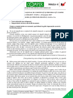 Subiect ComperComunicare EtapaI 2016 2017 ClasaV