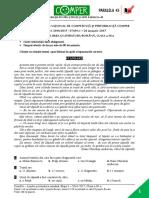 Subiect ComperComunicare EtapaI 2016 2017 ClasaIII