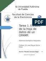 OPAMP Definición de parámetros