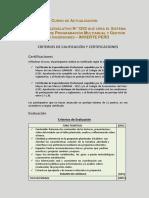 Criterios de Calificación y Certificaciones