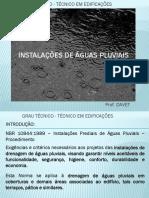 Instalações Hidráulicas - Águas Pluviais