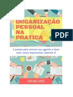 Organização Pessoal Na Prática