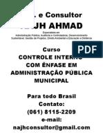 Curso Controle Interno com ênfase em Administração Pública Municipal