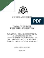 (Tesis) Influencia Del Aglomerente en El Comportamiento Electroquimico de Materiales de Carbono Utilizados Como Anodos en Baterias de Ion Litio