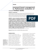 CRM Scorecard-based Management System Performance Evaluation Banks