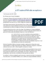 ConJur - Silvano Flumignan_ Súmula Do STJ Sobre IPVA Não Se Aplica Sempre