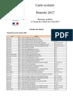 Carte scolaire 2017 - Côte-d'Or