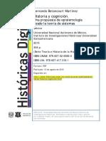 Fernando Betancourt, Historia y Cognición