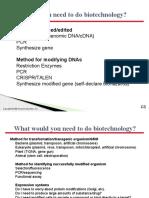 Lec 7 - Recombinant DNA Techniques