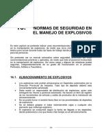 Normas de Seguridad en El Manejo de Explosivos