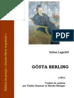 Lagerlof Legende Gosta Berling Trad Hammar-metzger