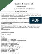 Journal d'un éveil du troisième œil  (Christophe ALLAIN) - Tome I