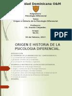 Diapositiva - Origen e Historia de La Psicologia Diferencial.