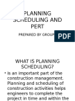 Group 3 1 Planning Scheduling and Pert