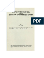 India, United Nations and apartheid sport