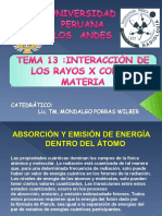 Tema 13. Interaccion de Rayos x Conla Materia