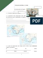 FICHA de HISTÓRIA - 5.º Ano - o Império Português No Séc. XVI