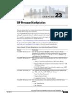 Cisco SIP Message Manipulation