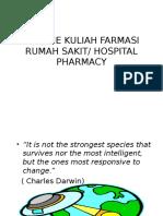 Resume Kuliah Farmasi Rumah Sakit